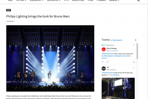 Bruno Mars at the Sportpaleis: Client – Philips Entertainment Lighting