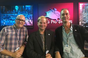 Wholehog 25th Anniversary at PLASA 2017: Client – Flying Pig Systems founders